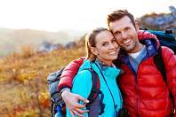 Zamilovaný pár, podzimní výlet