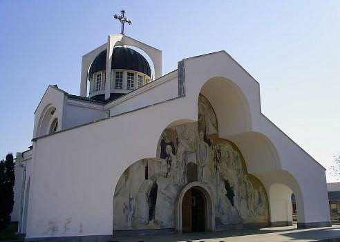 Kostel, ve kterém žena pronášela své věštby.