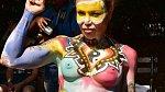 Festival bodypaintingu: SRAZ NAHÝCH BIZARDNÍCH FIGUR. To se hned tak nevidí!