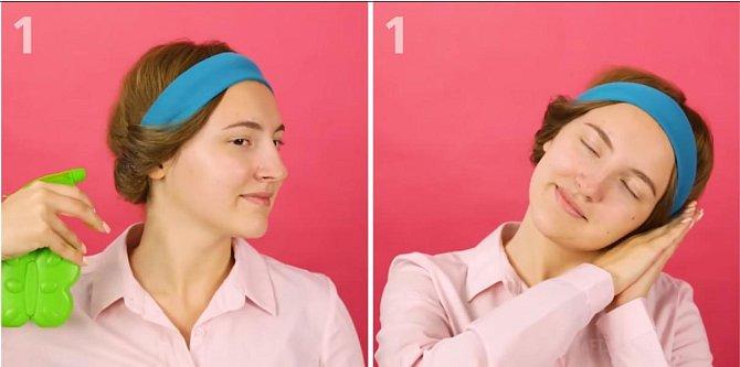 Na vlasy nastříkejte rozprašovačem trochu vody a běžte spát.