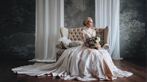 Svatební šaty.