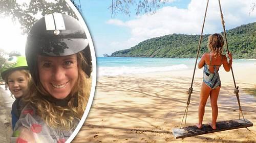 Evie Farrell (43) a její šestiletá dcera jsou šťastné! Vybraly veškeré úspory a cestují po světě. Pr