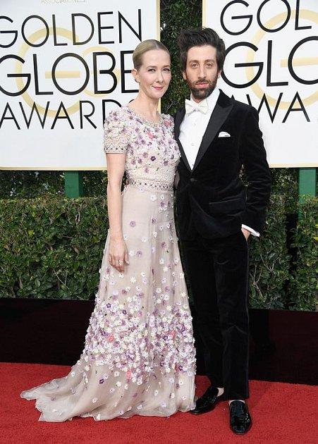 Simon Helberg s manželkou Jocely Towne