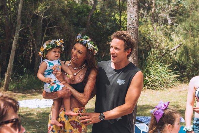 Turia Pitt s rodinou