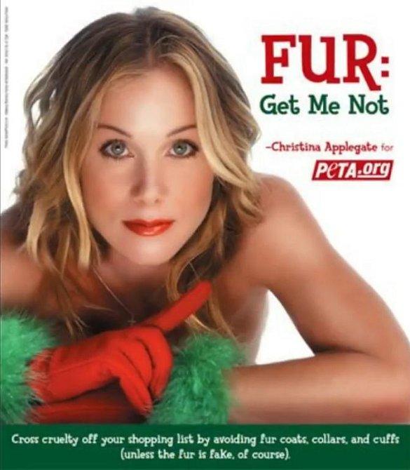 Tito slavní se svlékli pro organizaci PETA - Christina Applegate