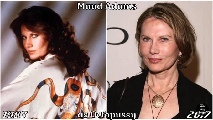 Herečka Maud Adams coby Chobotnička