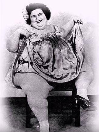 Dolly Dimples vystupovala jako nejkrásnější tlustá žena na světě.