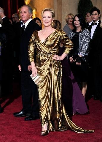 Meryl Streep v šatech Lanvin, střevíčky od Salvatora Ferragama