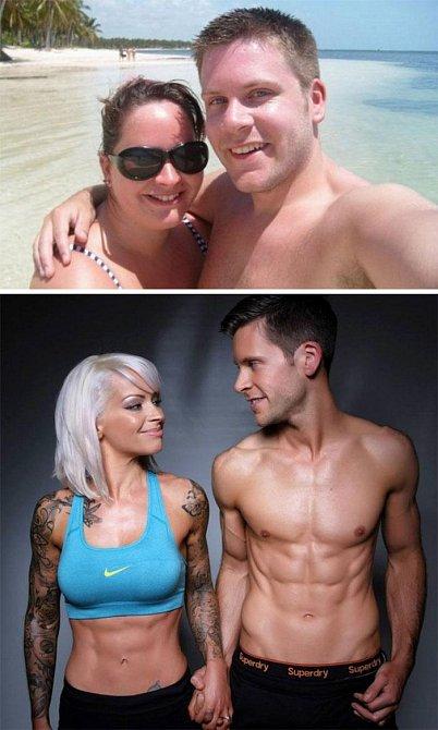 Tito dva si řekli, že dokud nezhubnou, nevezmou se. Za pět let měli krásnou romantickou svatbu.