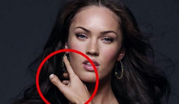2. Megan Fox - To znamená, že má krátší konec palce včetně velmi krátkého a zároveň širokého nehtového lůžka.