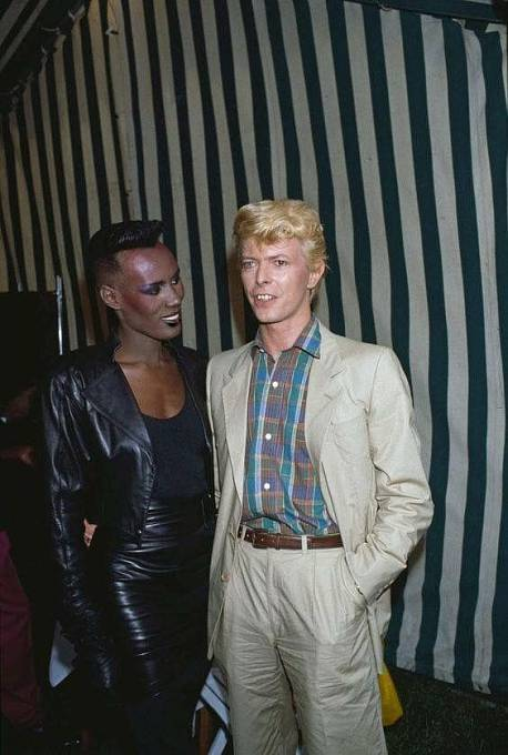 Grace Jones a David Bowie