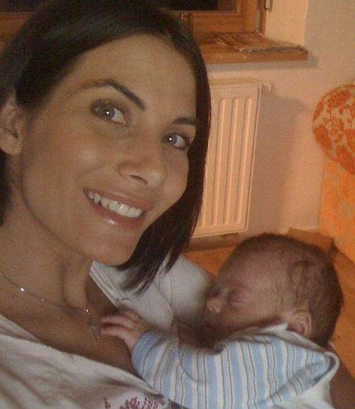 Eva Aichmajerová se synem