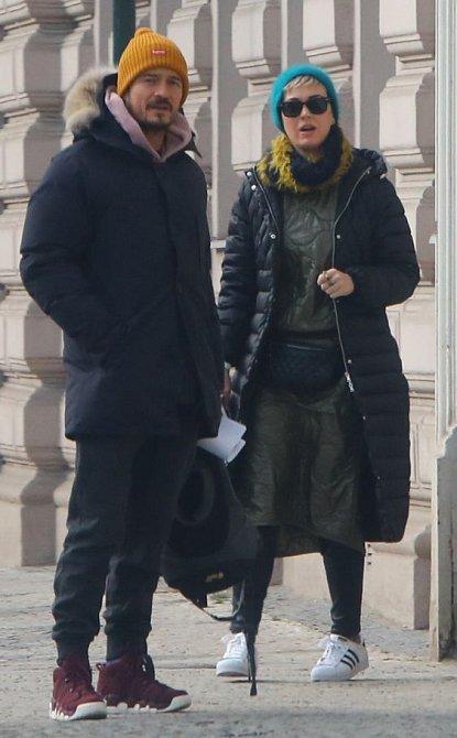 Katy Perry a Orlando Bloom navštívili Prahu.