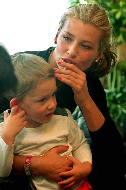 Daniela Peštová s prvorozeným synem Yannickem.