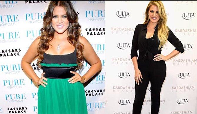 Khloe Kardashian před a po
