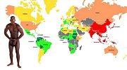 Mapa světa podle velikosti penisů