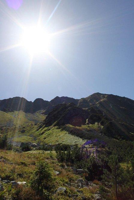 Panoráma Západních Teter zalitých srpnovým sluncem