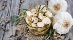 Česnek můžete uchovat naložený v oleji nebo zamrazit oloupané stroužky.