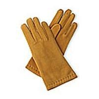 Béžové rukavice z teletiny