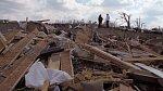 Dům Deckerových poničil hurikán.