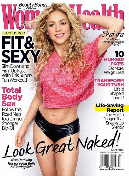 Shakira na titulní stránce časopisu Women´s Health