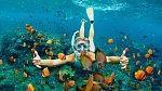 V kempu můžete lenošit nebo si vyzkoušet některé z nabízených aktivit. Potápění je v Chorvatsku velmi oblíbené.