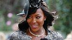 Britská topmodelka Naomi Campbell dorazila v nádherných černostříbrných šatech a s extravagantním kloboukem. Byla ozdobou celé svatby.