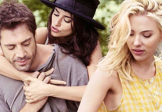 Nastávající manželé se Scarlett Johansson ve Filmu Vicky Cristina Barcelona
