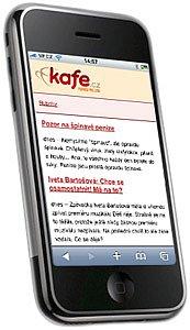 Kafe.cz na mobilu