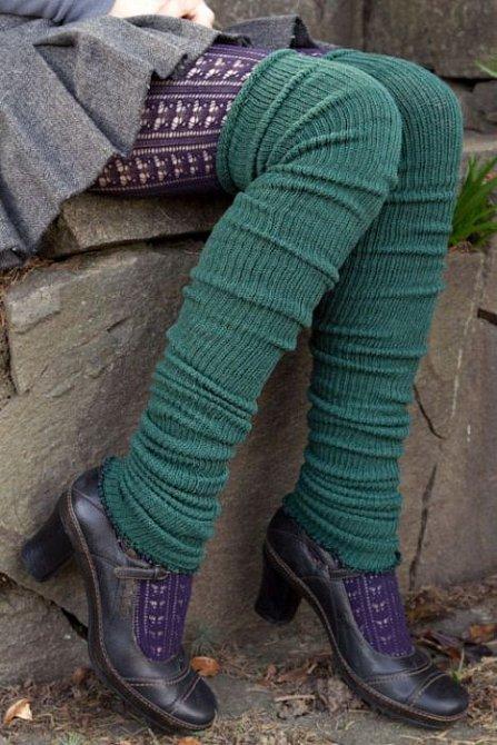 Pletené návleky jsou slušivé, hravé a zahřejí.
