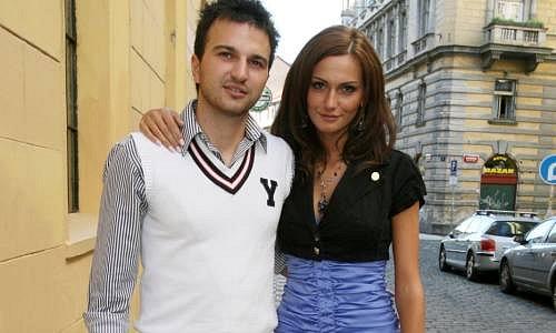 Eliška Bučková s přítelem