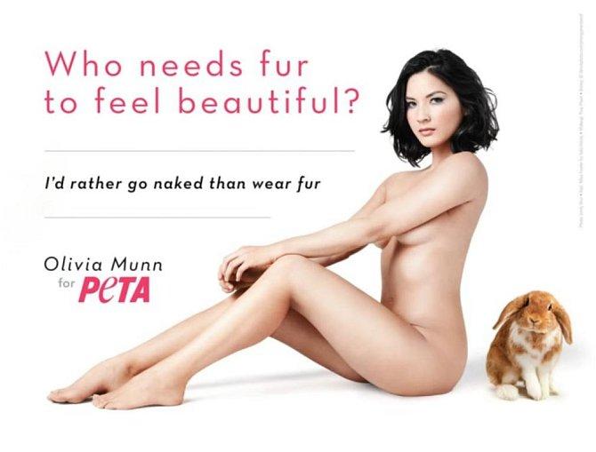 Tito slavní se svlékli pro organizaci PETA - Olivia Munn