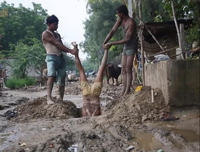 Takhle si muži zahrávají se svým životem aneb bezpečnost práce v praxi.