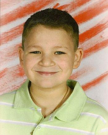 Jordan Brown jako malý chlapec.