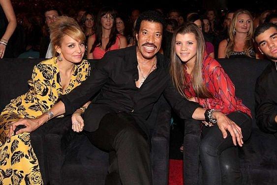 Lionel Richie a jeho dvě dcery, Nicole a Sofia