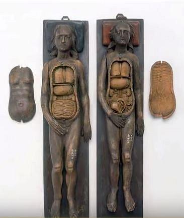 Anatomicky model ze 17. století