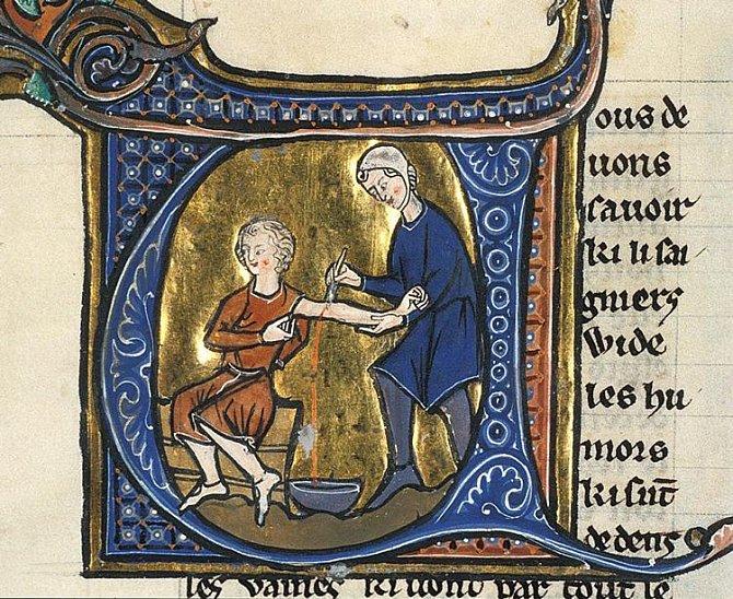 Nemocnému se pouštělo žilou buď za pomoci pijavic nebo nařezávání kůže.