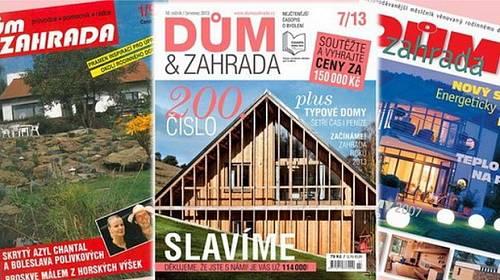 Soutěže o ceny za 150 000 Kč s časopisem DŮM&ZAHRADA