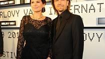Jitka Čvančarová s partnerem Petrem Čadem