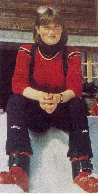 Od dětství milovala lyžování.