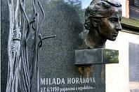 Milada Horáková má provizorní hrob na pražském Vyšehradě.