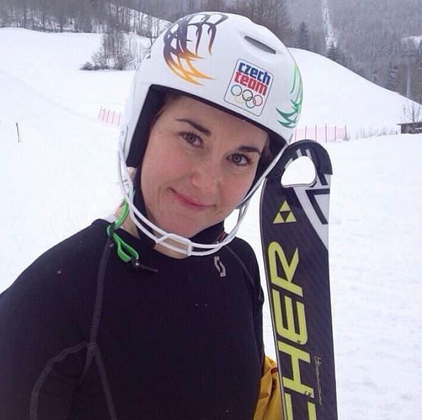 Šárka Strachová se stala maminkou v dubnu. Bývalá lyžařka porodila holčičku Emu.
