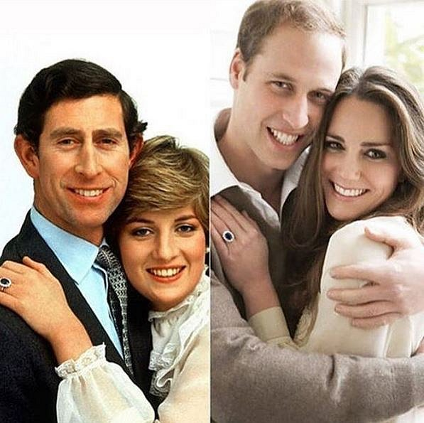 Charles a Diana vs William a Kate
