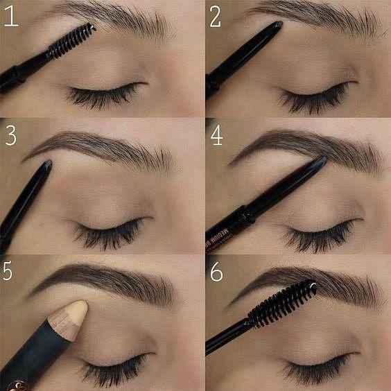 Takto probíhá celý proces úpravy obočí pomocí kosmetických produktů.