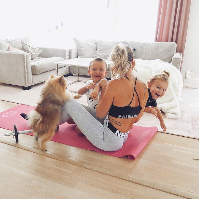Cvičení je pro Malin životní vášní.