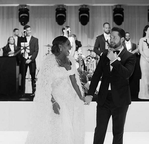 Serena se na svém svatbě převlékla hned třikrát.