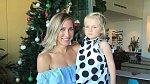 Shan Cooper s dcerou Grace a vánoce.
