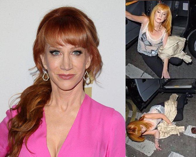 Kathy Griffin se svalila na zem jako špalek