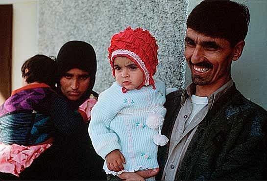 Šarbat s mužem a dětmi.