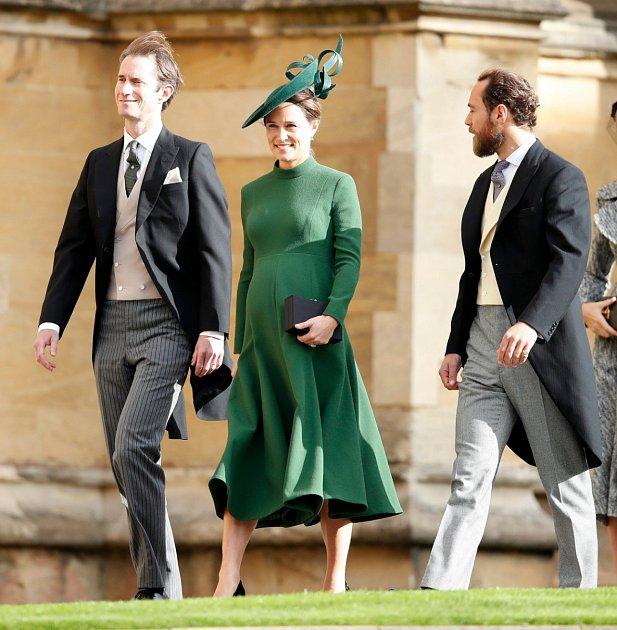 Pippa Middleton s manželem a bratrem.